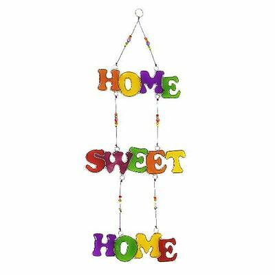 Stained Glass Rainbow Hanging Sun Catcher - Home Sweet Home - Window Decoration