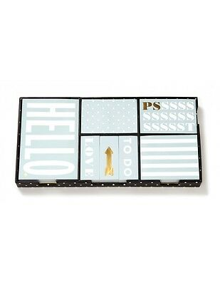 """KATE SPADE - Sticky Note Set - """"This Just In"""" - Gold Foil Accent"""