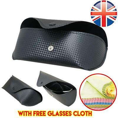 *UK Seller* Sunglasses Reading Glasses Carrying Case Pouch w/ FREE GLASSES CLOTH