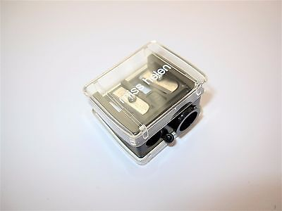 PRECISION Made Dual Size COSMETIC CLEAR & BLACK PENCIL SHARPENER Made in GERMANY