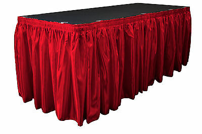 Red Table Skirt 13' x 29""