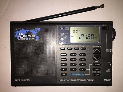 Sangean ATS-808 Shortwave HAM Receiver Radio