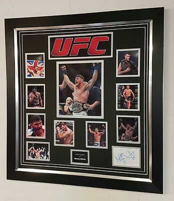 ** RARE Michael Bisping SIGNED PHOTO PICTURE Autograph Display **