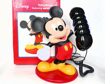 RARE Vintage MICKEY MOUSE Disney Character TELEPHONE Boxed Excellent Condition