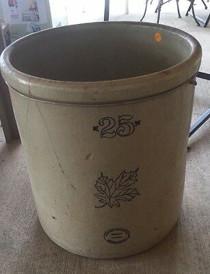 Antique Stoneware Crock 25 Gallon Vintage Pottery Pickle Jar Collectible Rare