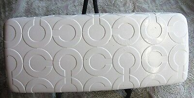 "COACH Ivory Off White ""C"" Logo Glasses Eyeglasses Sunglasses Hard Case"