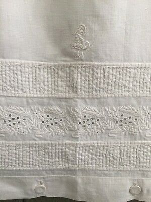 Stunning Vintage Antique Monogrammed Pillow Case Sham