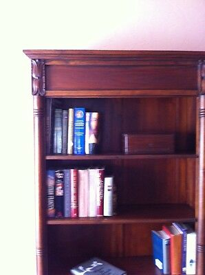 Bookcase--Antique, Hand-Crafted & Carved Mahogany