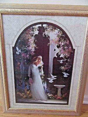 Home Interior By Birkstock a Lady w white dress pink bouquet by an arch & white