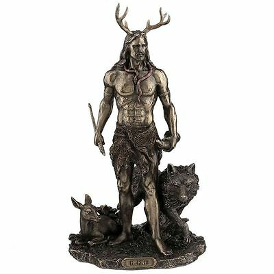 Herne and Animals Figurine / Wicca  / Altar Statue / Nemesis Now