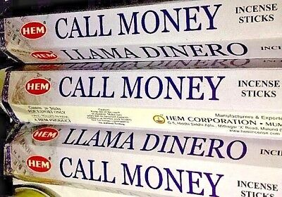 (3) Three Hem Incense Sticks 20 Per Box For Call Money (Llama Dinero)