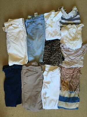 Pre-Owned Used Blemished Women's Clothing S-M Mix Lot Shirts Pants Abercrombie