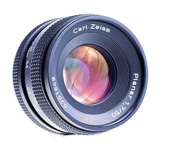 Carl Zeiss Planar 50 mm f 1,7 Red T Contax / Yashica Mount Getestet  SN 6261649