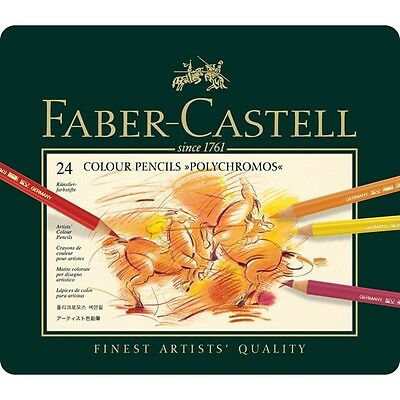 FABER CASTELL POLYCHROMOS ARTISTS QUALITY COLOUR PENCILS -24 (New and Sealed)