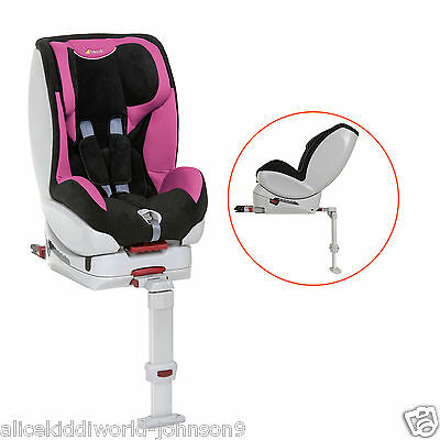 New Hauck Varioguard Isofix 2 way carseat car seat in Pink/ Black birth upto18kg