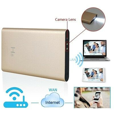 H.264 FULL HD 1080p WIRELESS WiFi/P2P SPY CAMERA MINI DVR IN 5000mAh POWER BANK