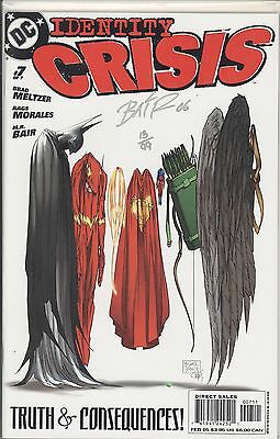 Identity Crisis #7 / Signed By Michael Bair / Df Coa