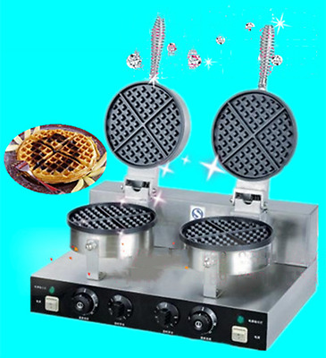 Commercial Twin Electric Waffle Maker Machine non Stick 10 Amp power a