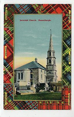 INVERESK CHURCH, MUSSELBURGH: East Lothian postcard (C25428)