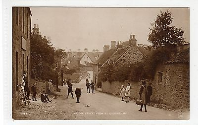 BRIDGE STREET FROM EAST, COLDINGHAM: Berwickshire postcard (C25602)