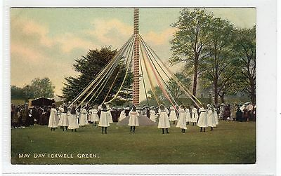 MAY DAY, ICKWELL GREEN: Bedfordshire postcard (C25682)