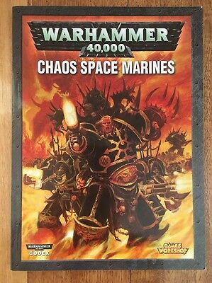 Warhammer 40,000 Chaos Space Marines Book Codex Games Workshop 40k