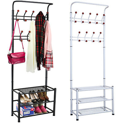 Multi-purpose 18 Hanger Hook Metal Heavy Duty Clothes Shoes Hats Bags Stand Rack