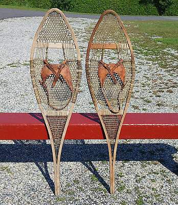 LOVELY Antique INDIAN SNOWSHOES 43x12 SNOW SHOES VERY OLD L@@K W@W!!