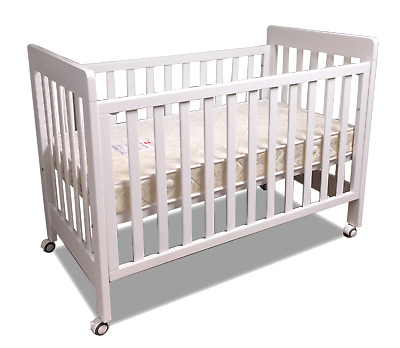 NEW bebe care Euro cot crib baby bed with childcare innerspring mattress WHITE