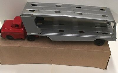 1950's  Friction Action Tin Toy Car Hauler New In Box Carnival / Boardwalk Prize