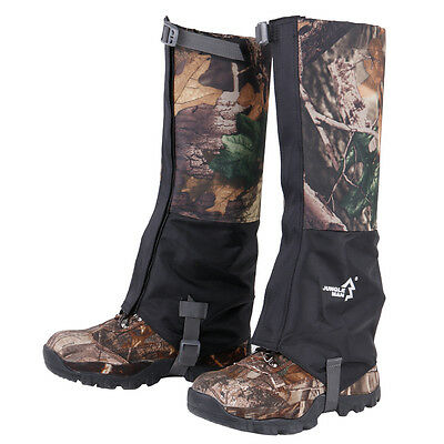 Pair Camo Waterproof Walking Climbing Hunting Snow Legging Gaiters for Men Women