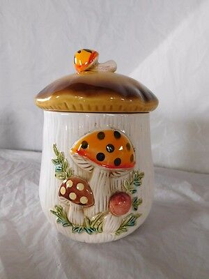 1978 Sears Robuck vintage mushroom canister med size replacement w/ lid kitchen