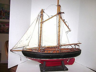 Vintage Ship Model Wooden Hand Made  Venture III RNSYS Halifax N S