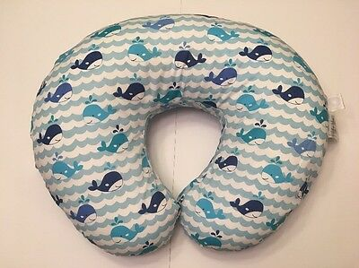 Original Boppy Nursing Pillow Positioner Whale Watch Breastfeeding Essentials