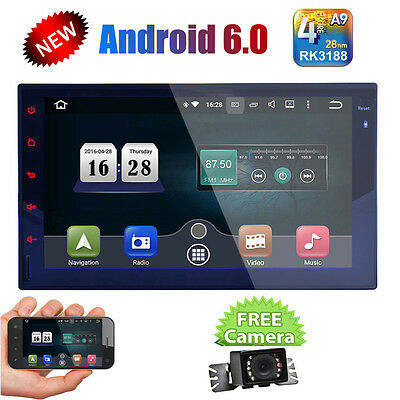 """Android 6.0 4G WIFI 7""""Double 2DIN Car Radio Stereo No DVD Player GPS Nav In dash"""