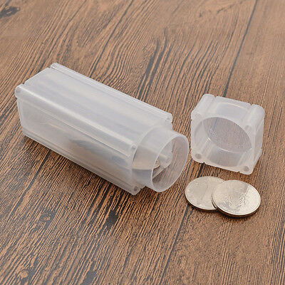 1 Pc Square Coins Storage Tubes Holder Collection 27mm Plastic Craft Too