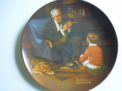1982 THE TYCOON Norman Rockwell BRADFORD EXCHANGE Collector Plate NIB