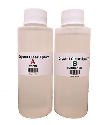 Clear Epoxy Resin for Jewelry, Coating, Casting, Crafting Mix 1:1 Ratio 8 OZ Kit