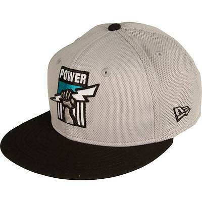 New Era PORT ADELAIDE POWER 9FIFTY GREY MESH CAP*USA Brand-Size S To M Or M To L