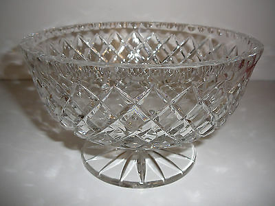 Heavy Lead crystal fruit bowl salad sweets Desserts Trifle Diamond Cut Stunning