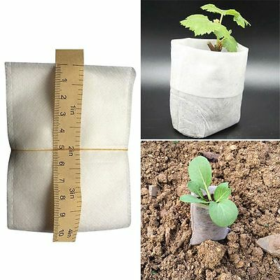 100PCS/Lot Fabrics Nursery Pots Seedling-Raising Bags Planting Pouch Breathable
