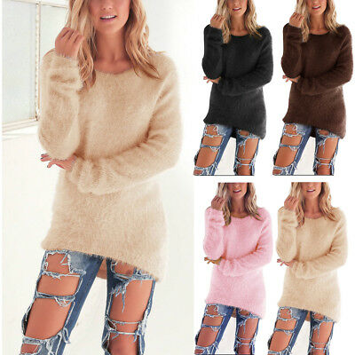 Femme ISASSY Pull Manches Longues Velours Haut Hiver Chaud Tricot Pull-over