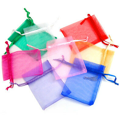 100pcs Organza Wedding Party Favor Gift Candy Bags Jewellery Packing Pouch