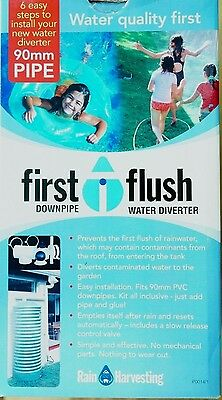 Rain Harvesting First Flush Downpipe Water Diverter 90mm Keep Your Tank Clean