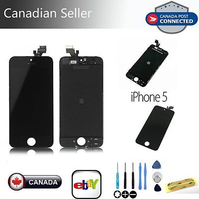 LCD Touch Screen Display Digitizer Assembly Replacement for iPhone 5 Black+Tools