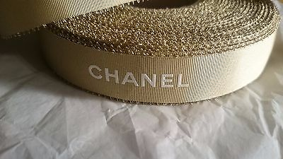 GOLD RIBBON CHANEL Gift Wrapping roll 30 meters