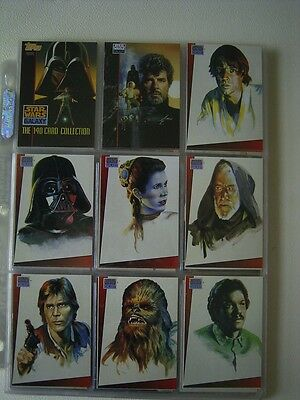 STAR WARS 1993 Topps Star Wars Galaxy Trading Cards Set of 140 Sleeved (EB1)