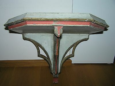 Large Antique 18Th Century Gothic Wall Console From French Church.