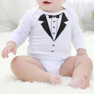 Newborn Baby Cute Boys Cotton Clothes Romper Bodysuit Jumpsuit Outfits Set