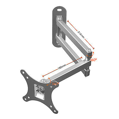 "Soporte montura TV Giratorio Inclinable Para LED LCD 10""-30"" 15 20 25 26 100mm"